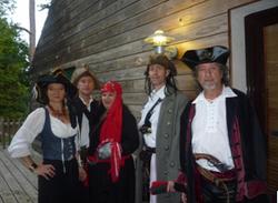 équipe déguisée Pirates des Caraïbes