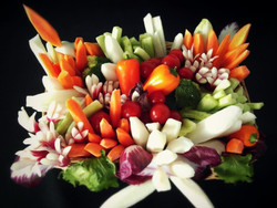 petits légumes buffet mariage