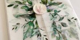 Botanical wax seal wedding invitations
