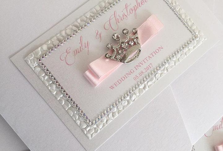 disney pocketfold wedding invitation
