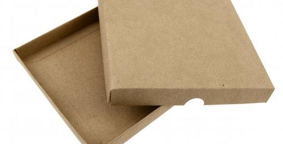 Kraft square invitation box