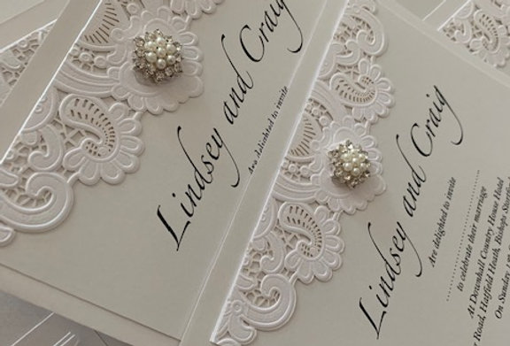 Lace Ritz Evening Invitation