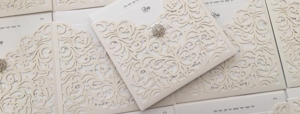 wallet laser cut invites