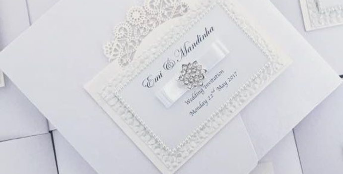 luxury wedding invitation pockets