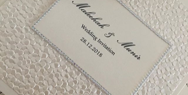 Folding wedding invitation