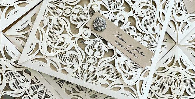 Luxury laser cut wedding invitations