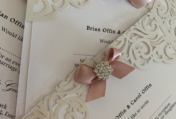 Luxury lasercut evening invitations