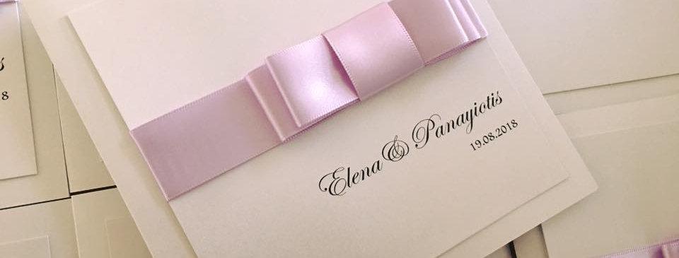 bow wedding invitations