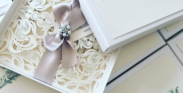 Luxury wedding invitation laser cut