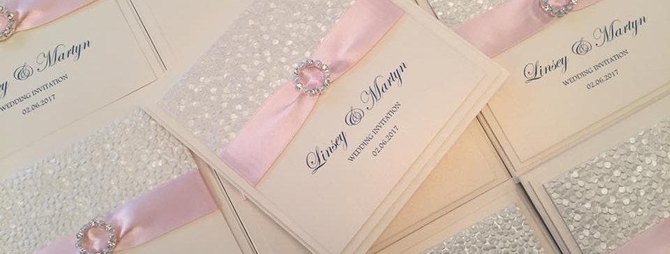 Textured wedding invitations