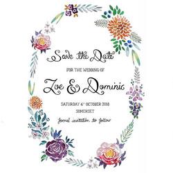 Save the Date Wedding Design