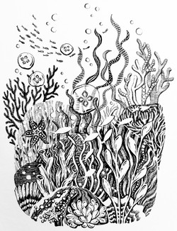 """Inktober 2020 Day 20 """"Coral"""""""