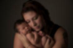 Mom and Leo Syracuse NY Newborn Photographer