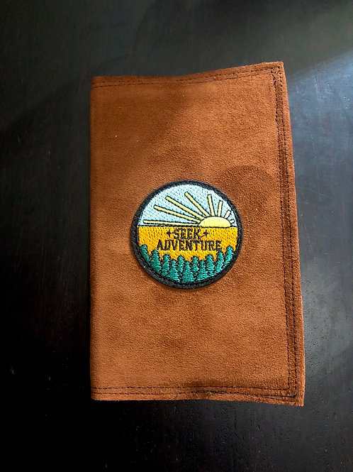 Seek Adventure 3x5 Leather Notebook Cover