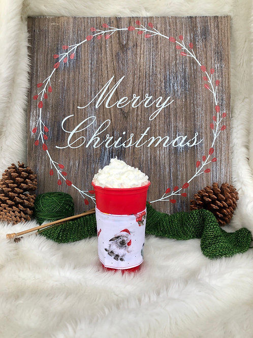 Warm Wishes Fluffy Bunny Cup Cozy Reversible