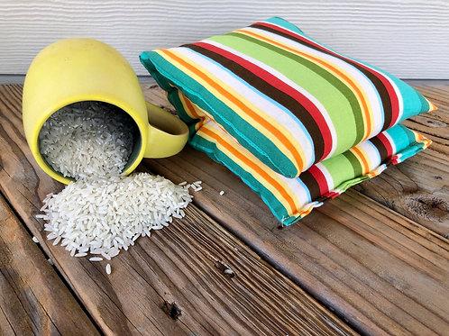 Bev's Rice Bags Summer Stripes