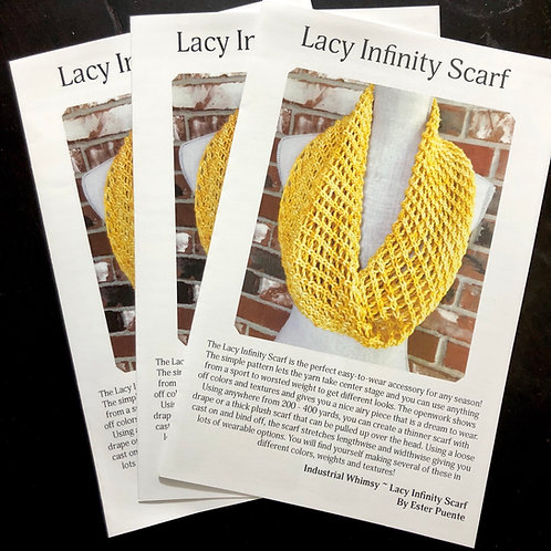 Booklet- Lacy Infinity Scarf Knitting Pattern