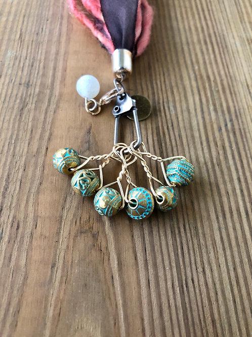 Patina Gold Knitting Stitch Markers Handmade