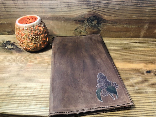 Hyacinth Leather Notebook Cover 5x8
