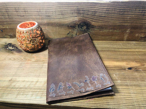 Daily Flowers Leather Notebook Cover 5x8