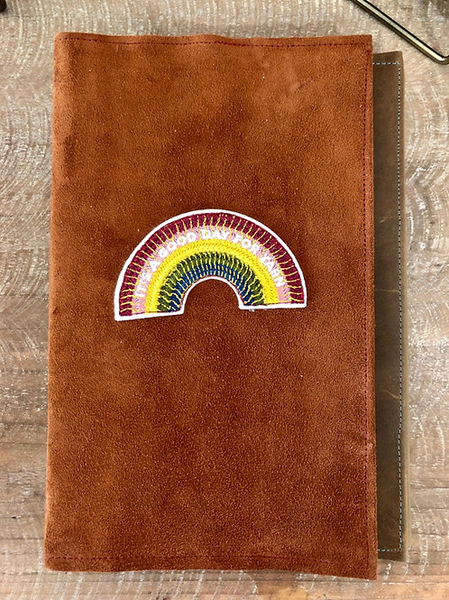 Yarn Rainbow Leather Notebook Cover 5x8