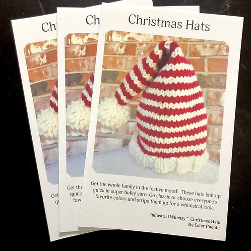 Booklet- Christmas Hats Knitting Pattern