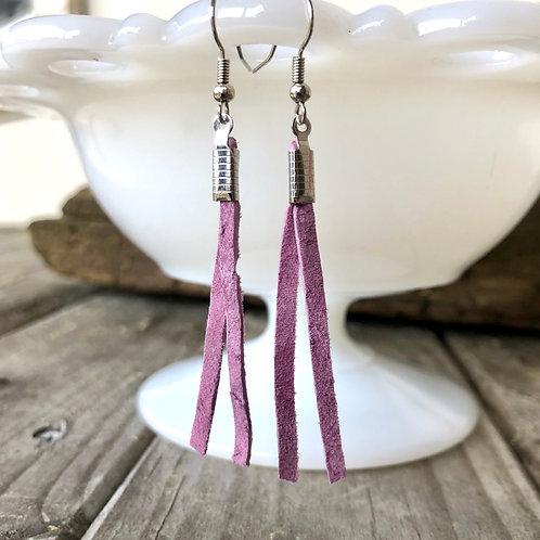 Purple Suede Earrings