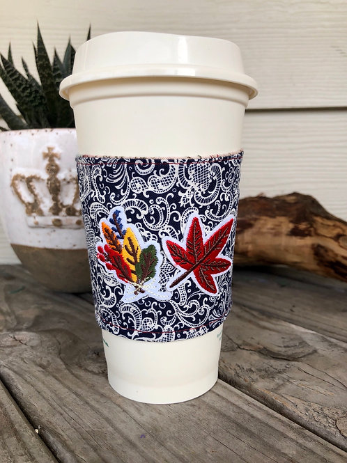 Fall Leaves Coffee Cup Cozy