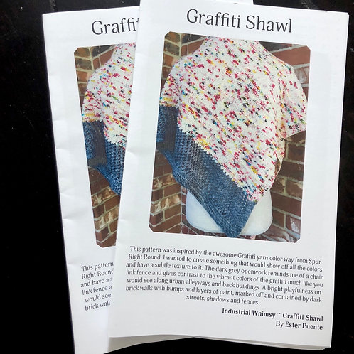 Booklet- Graffiti Shawl Knitting Pattern