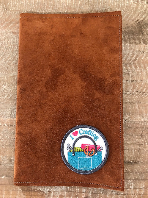 I Love Crafting Leather Notebook Cover 5x8