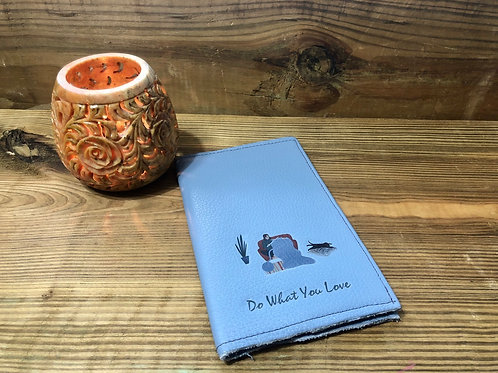 Knitter do What You Love Light Blue Little Leather Notebook