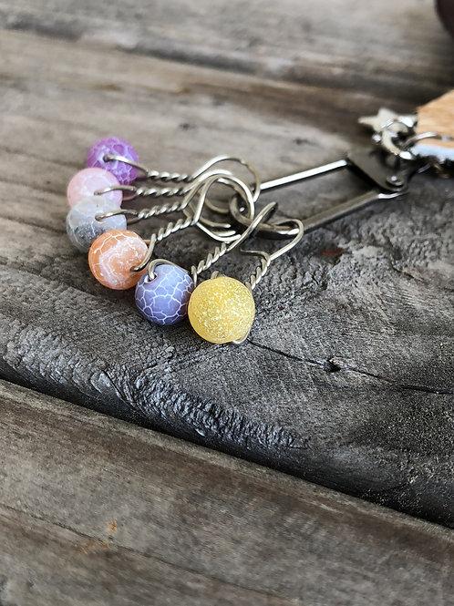 Crackle Multicolor Knitting Stitch Marker Set