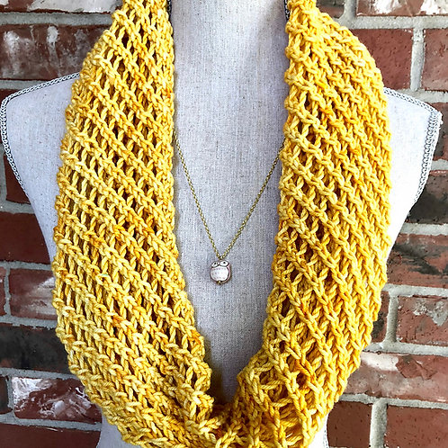 Lacy Infinity Digital knitting Scarf Pattern