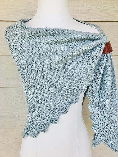 On the Trail Shawl Cashmere Wool blend Hand Knit Original Design