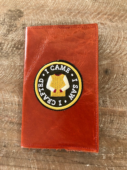 I Came I Saw I Crafted  3x5 Leather Notebook Cover