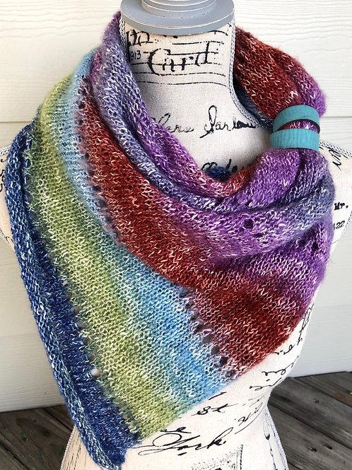 Muse Shawl Hand Knit Triangle Scarf
