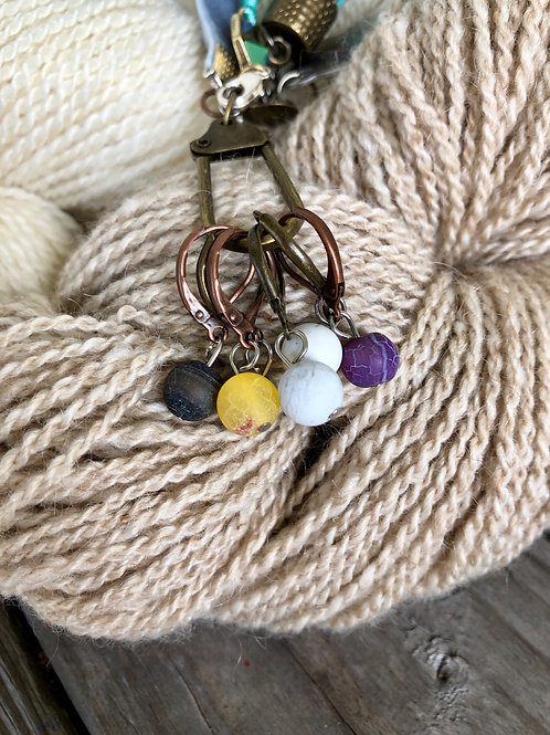 Multicolor Handmade Stitch Markers Progress Keepers