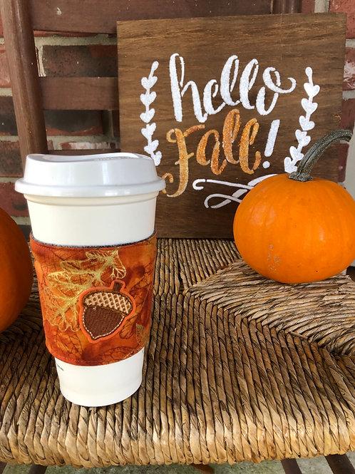 Acorn Coffee Cozy Reversible