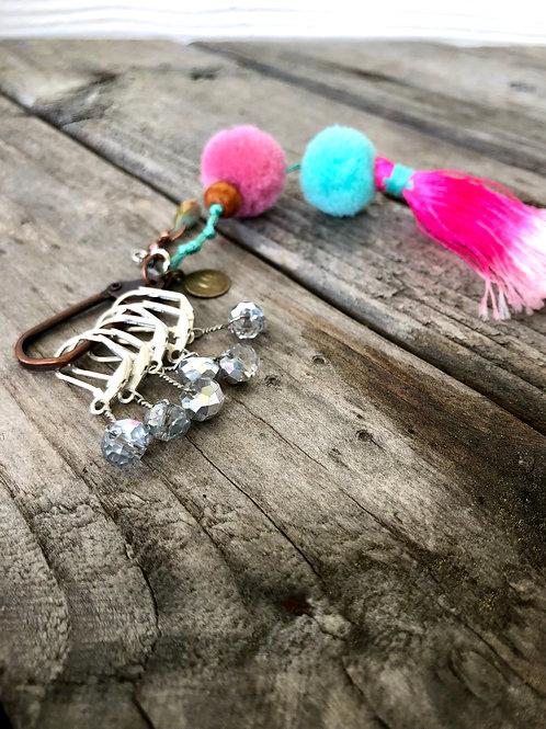 Sparkle Silver Handmade Stitch Markers Crochet Knitting