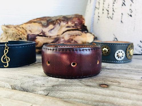 Mahogany Brown Cuff Bracelet Shawl Cuff