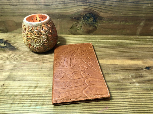Floral Embossed Little Leather Notebook