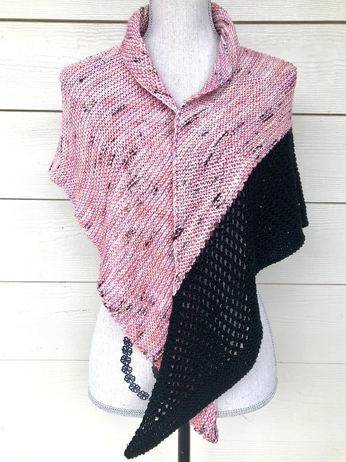 Be Mine Shawl Hand Knit Triangle Shawl
