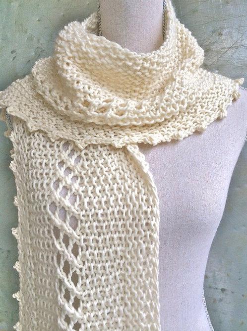 Textured Scarf Digital knitting Pattern