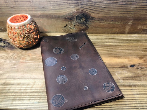 Planets Leather Notebook Cover 5x8