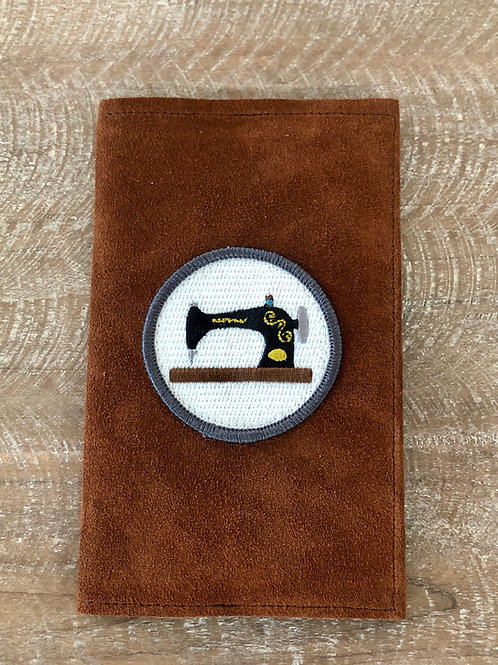 Sewing Machine 3x5 Leather Notebook Cover