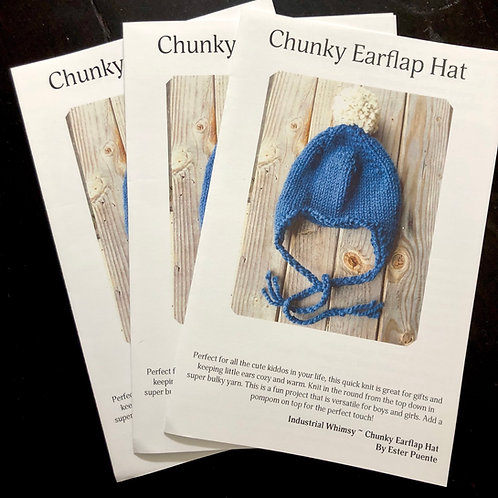 Booklet- Earflap Hat Knitting Pattern
