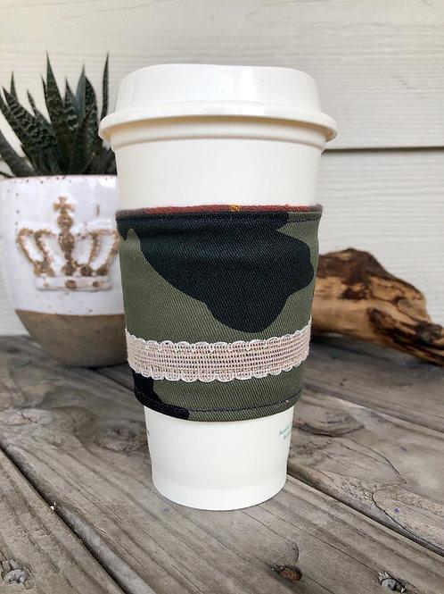 Camo Ribbon Coffee Cup Cozy