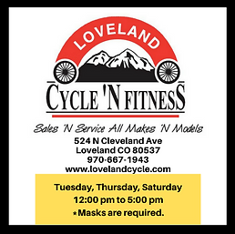 Loveland Cycle 'N Fitness Hours and COVID19