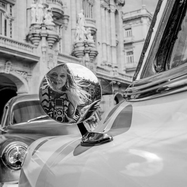 """""""Sideview Mirror"""" Havana, Cuba"""