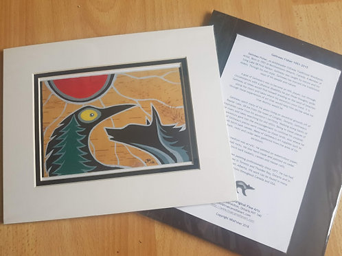 Wolf and Raven - Gelineau Fisher Print